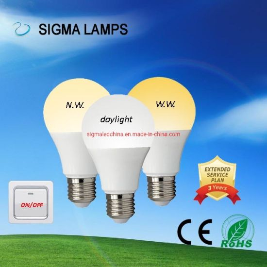 Sigma CE Eco Smart 7W 9W 12W Switch Controlled CCT 3 Colors Change RGB Changing LED Bulbs