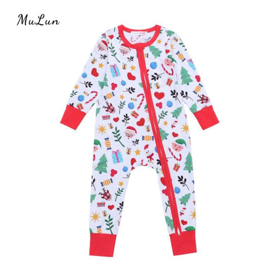 Custom Print Newborn Baby Flutter Sleeve Pajamas Onesie