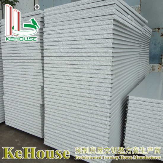 Malaysia EPS/Rock Wool/PU Heat Insulation Sound Insulation Color Coated  Steel Sandwich Panel