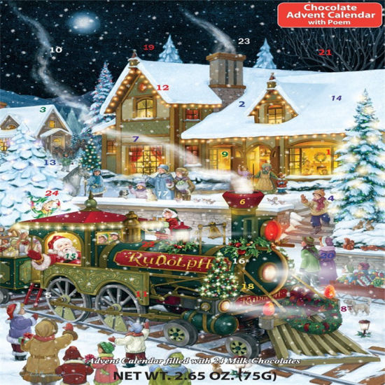 China Custom Countdown to Christmas Chocolate Advent Calendar ...