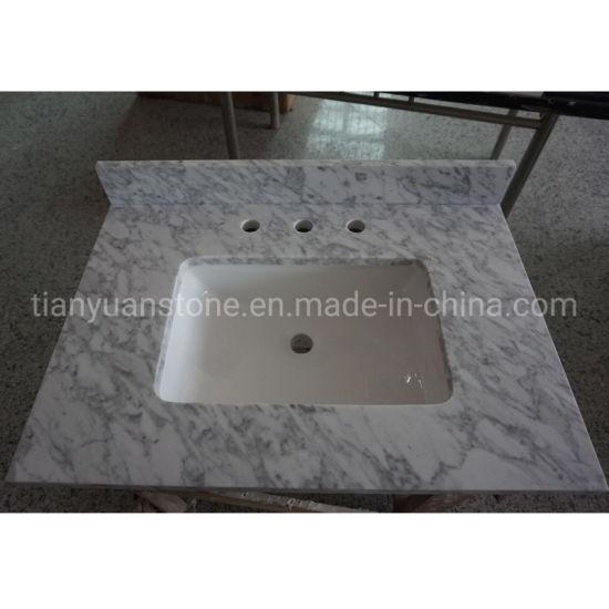 Custom Polished Carrara White Marble Lowes Vanity Tops Countertops For Bathroom China Bianco Carrara Bathroom Vanity Made In China Com