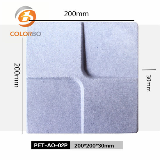 Polyester Fiber B1 Fireproof and Eco-Friendly Sound Absorption Material 3D Product for Wall Decor