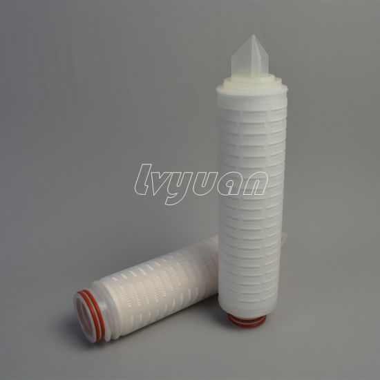 SGS 0.2um 1.0 5 Micron PP Pleated 10/20/30/40 Inch Filter Cartridge for Water Treatment