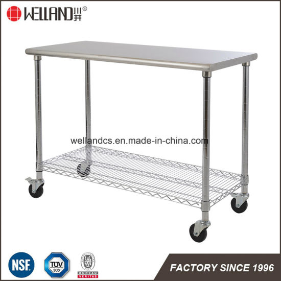 China Restaurant Kitchen Equipment Stainless Steel Work Table Rack - Restaurant equipment stainless steel table