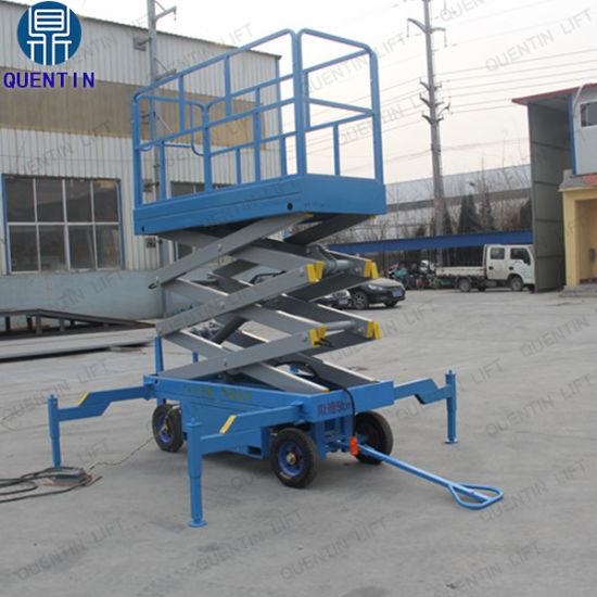 China Greenhouse Used Small Electric Hydraulic Mini Scissor Lift