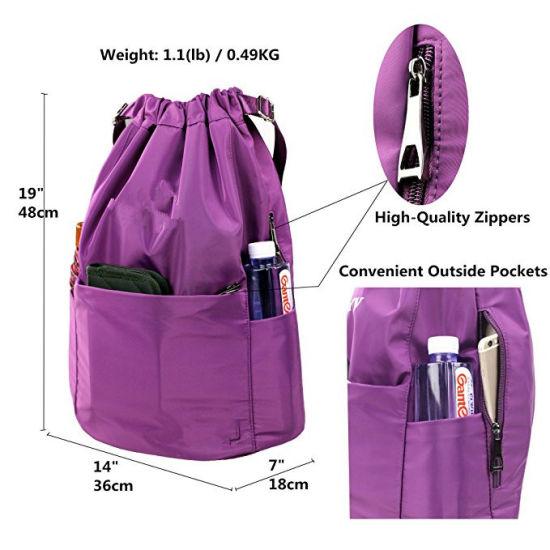 3be70f493dea Drawstring Backpack String Bag Sports Waterproof Sackpack Gymsack Gym Bag