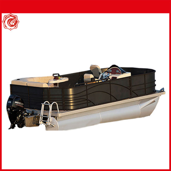 Factory 5.18m Aluminium Boat Luxury Floating Tourism Party Pontoon Boat Fishing Boat Speed Boat
