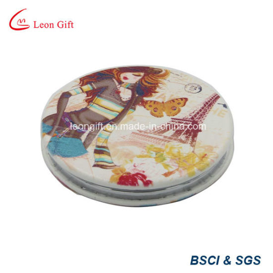 Costom Made Flower Logo Mini Makeup Mirror for Sale pictures & photos