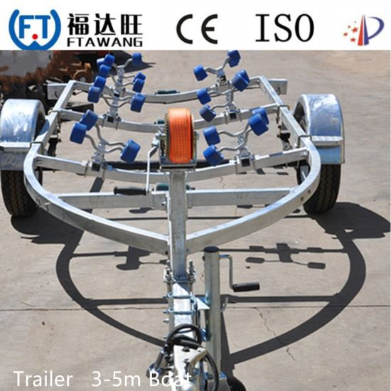 Galvanizing Motor Boat Trailer with LED Tail Lights