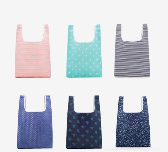 Eco-Friendly Polyester Reusable Portable Shopping Bag Grocery Bags Foldable Shopping Tote Bag