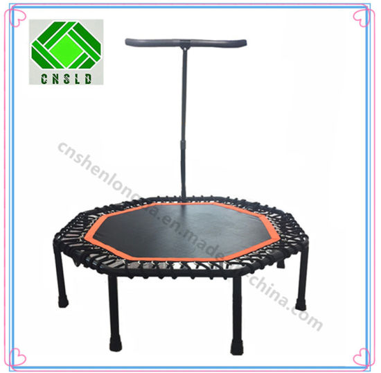 Hot Selling 40inch 8-Trampoline with Handrail, Elastic Rope Trampoline pictures & photos