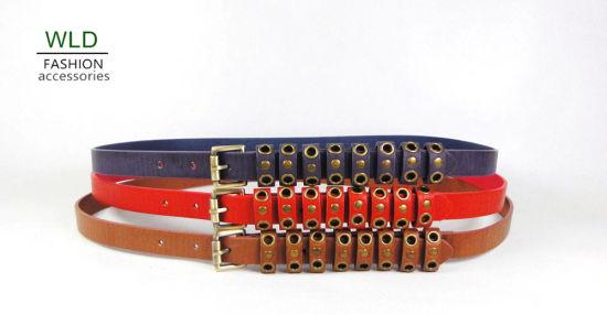Fashion Young Lady Weave PU Belt Ky4690
