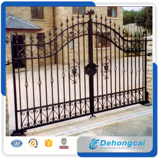 China Factory Wholesale Used Beautiful House Main Wrought Iron Gate