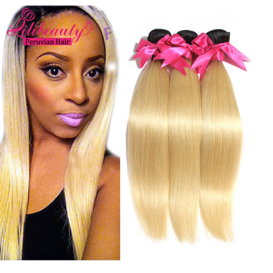 Hotselling Color Human Hair Virgin Peruvian Ombre Hair pictures & photos