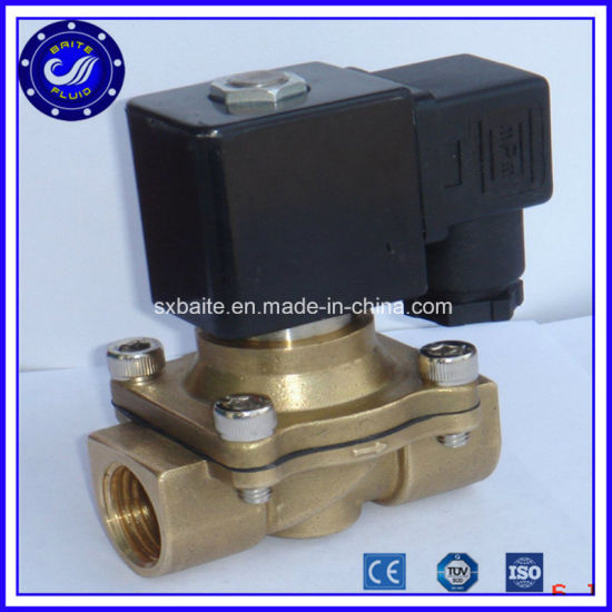 2W160-15 Brass Solenoid Valve 110V AC High Pressure Air Solenoid Valve for Water Price pictures & photos