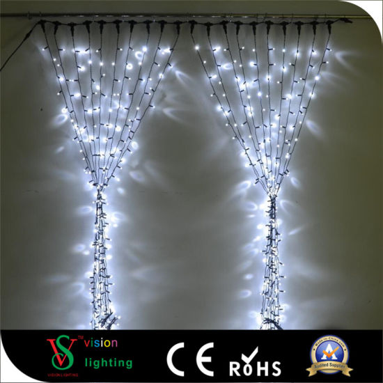 rubber wire connectable led christmas curtain lights wedding decoration lights