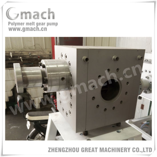 Polymer Melt Gear Pump for Plastic Sheet Extrusion Line pictures & photos