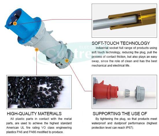 3 Pin Electrical Plug Industrial Plug and Socket