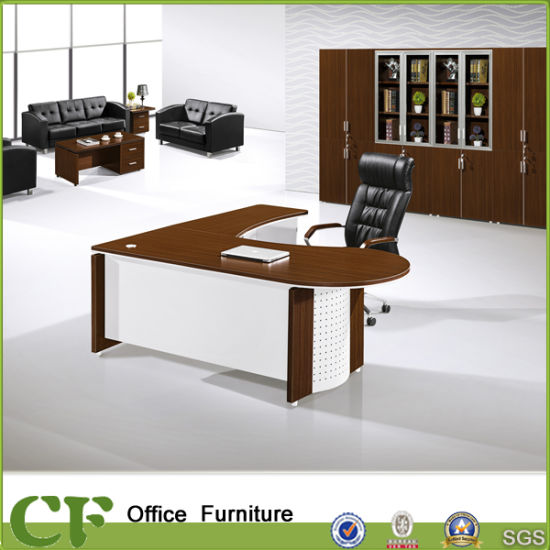 China New Arriving OEM Project Tender Supplier Walnut Office Desk
