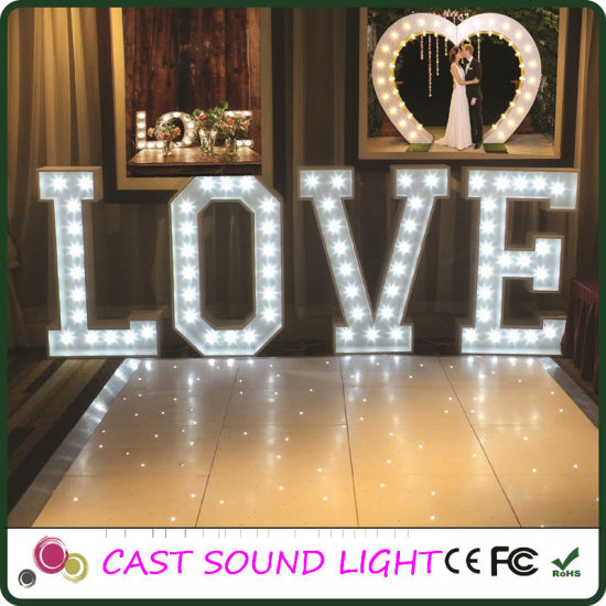 China Led Love Letter Sign Wedding Light Fancy Decoration Wedding