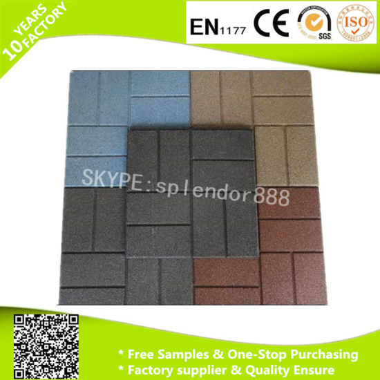 Shockproof Kindergarten Used Outdoor Rubber Paver Swimming Pool Mats pictures & photos