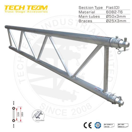 Aluminum 6082-T6 Spigot Flat Ladder Truss Roof Truss
