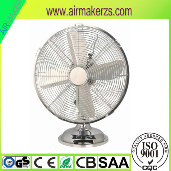 "Wholesale Price Speed Adjustable 12"" Metal Desk Fan SAA/Ce/GS/Reach pictures & photos"