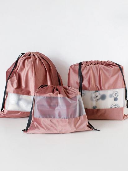 Custom Printing Logo Polyester Storage Bags Eco Friendly Drawstring Bags