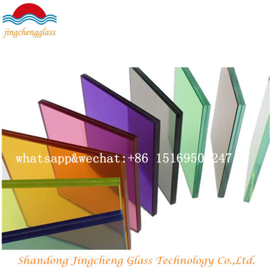 6.38mm/10.38mm/12.38mm Tempered Colored PVB Laminated Glass