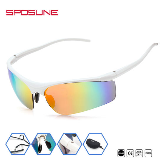 416ba3af8d4e Wrap Around Mirrored Trendy Outdoor Sunglasses Best Sports Glasses pictures    photos