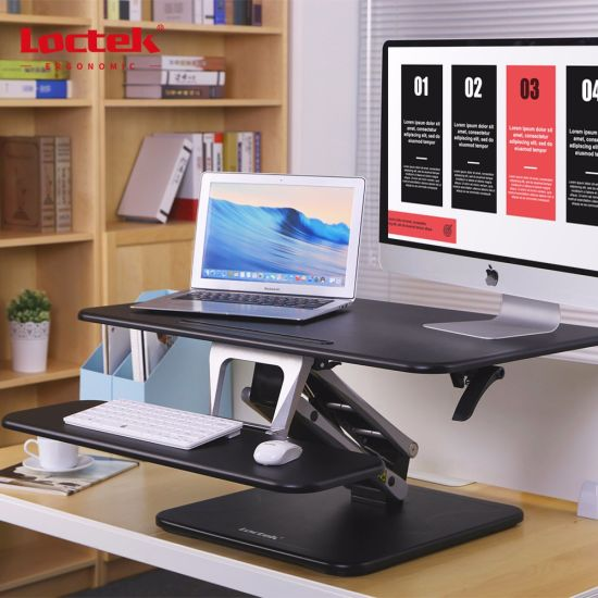 "Loctek 31"" Wide Platform Height Adjustable Standing Desk Riser, Sit-Stand Workstation, Black (MT103M-PT) pictures & photos"