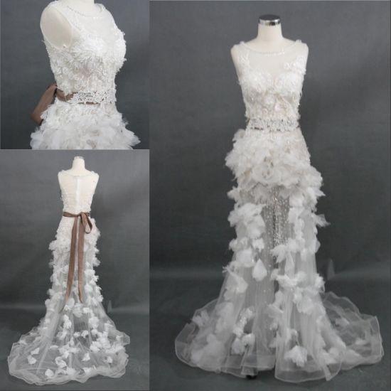 China Wholesale Customize Beading Sequins Lace Handsewn Bridal Dress ...