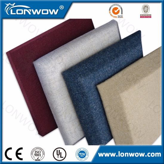 Cinema Decorative Sound Proof Wall Fiberglass Fabric Acoustic Panel