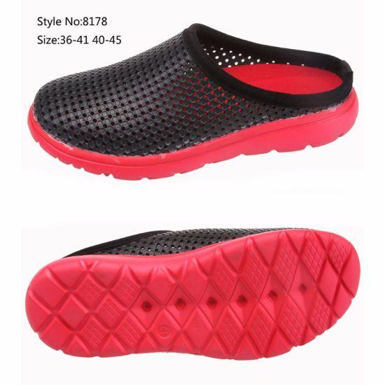 f7fcc278239ad EVA Sole PVC Upper Men and Women Holey Upper Clogs Hospital Safety Slipper  Shoe
