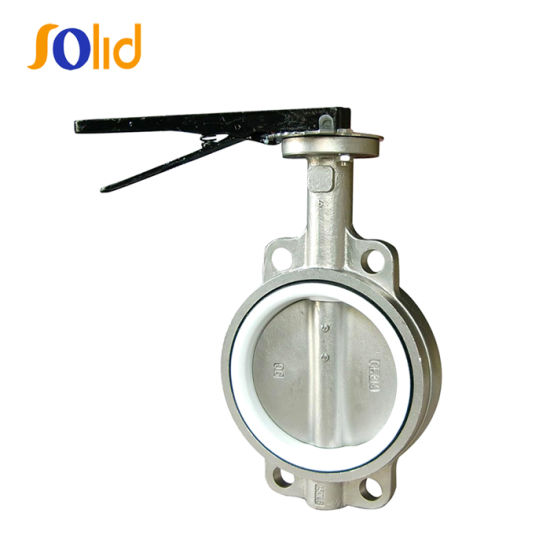 ASTM B148 C95500 PTFE Seat Stainless Steel Wafer Butterfly Valve