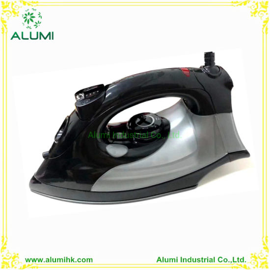 Hotel Electric Black Gray Steam Iron with Teflon Soleplate