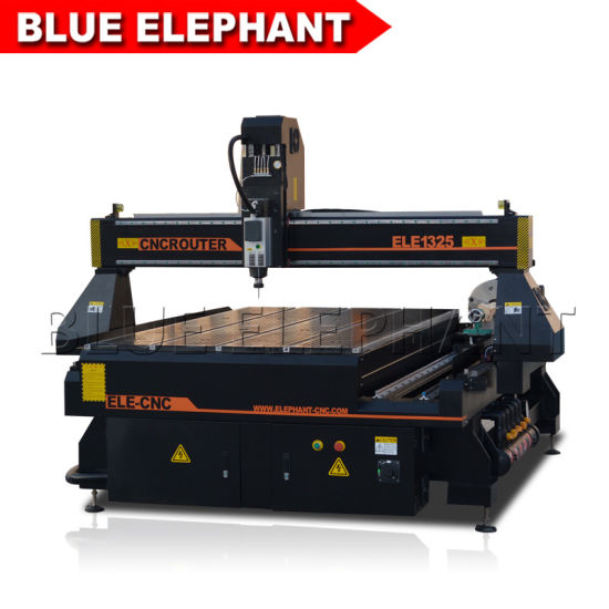 Ele 1325 4 Axis 4X8 CNC Wood Router with Rotary Device for Round Materials pictures & photos