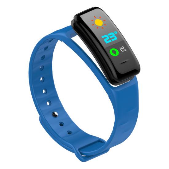 C1 Hot Sales Heart Rate Blood Pressure Blood Oxygen Monitor Wearfit Smart Watch