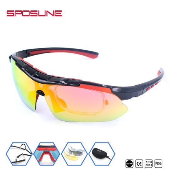 24e6cc2d5b Myopia Frame Insert Ski Goggle 5 Spare Unbreakable Lenses Cycling Hikking  Sunglasses High Prescription Polarised Anti UV400 Glasses