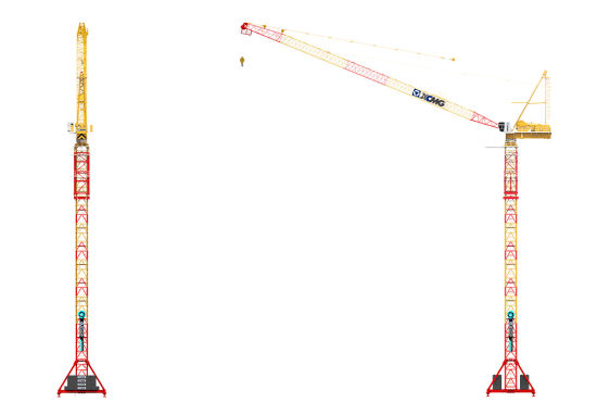 China XCMG Official 6 Ton Luffing Tower Crane XL4015L-6
