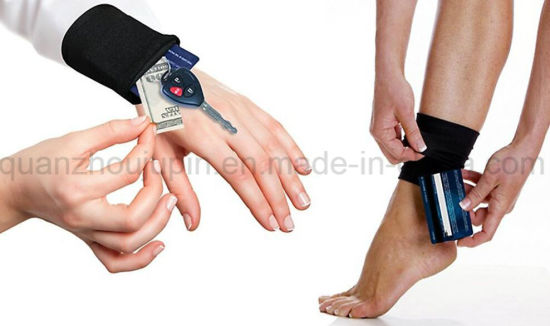 OEM Logo Neoprene Card Key Coin Bag Wrist Purse Wallet