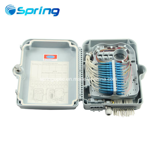 Outdoor IP65 FTTH 24 Ports Fiber Optic Terminal Distribution Box