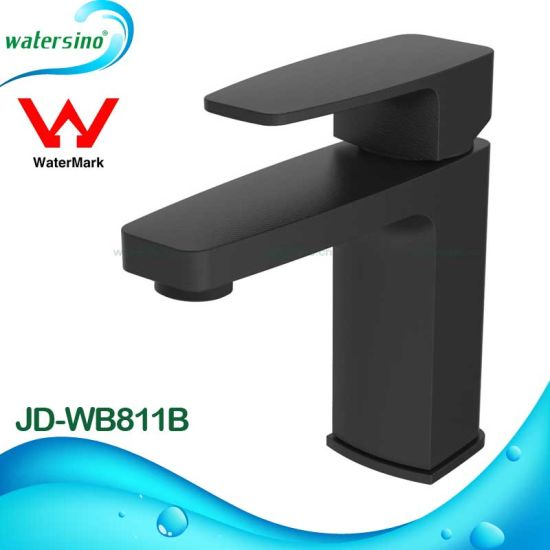Watermark Black Sanitary Ware Brass Chrome Bathroom Sink Mixer Tap pictures & photos