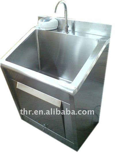 Two Persons Stainless Steel Scrub Sink pictures & photos
