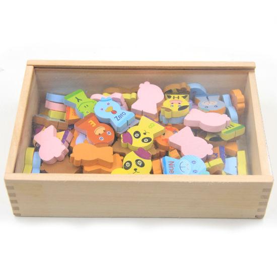 China Wooden Christmas Gift Domino Animal Cartoon Blocks Set for