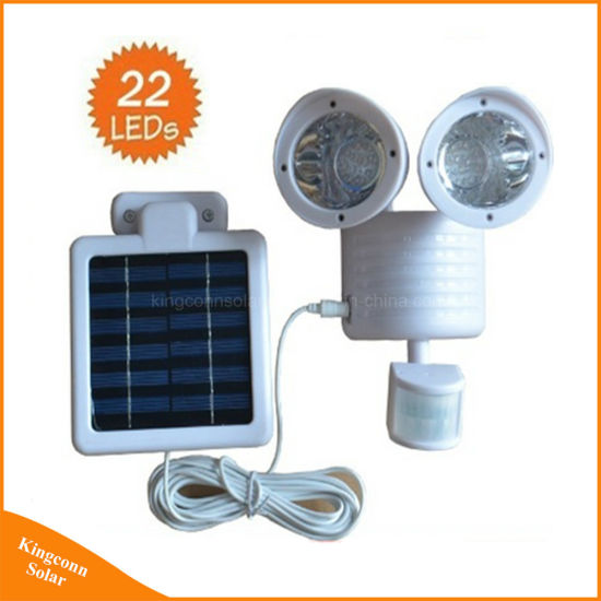 China 22 LED Solar Twin Motion Senor Security Wall Light