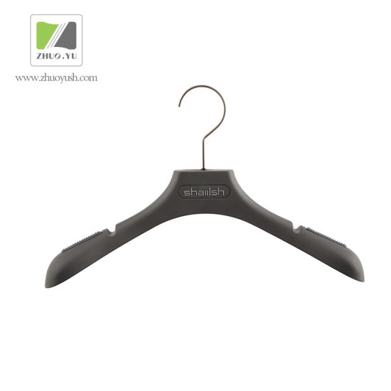 Zhuoyu Custom Made Grey Plastic Coat / Pant Hanger