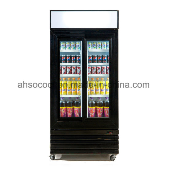 China Stylish Sliding Glass Door Beer Cooler Commercial Upright