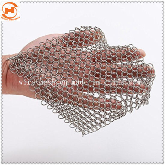 Chain Mail Pot Scrubber Cast Iron Chain Cleaner