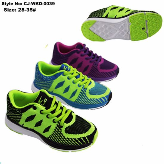 Anti-Slip Breathable Children Casual Running Sport Shoes pictures & photos